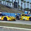 # 50 - ALMS GTE - 2011 - Sebring - Patrick Bornhauser, Julien Canal, Gabriele Gardel - Team Larbre Competition, ex C6R 001 and # 03 - Olivier Beretta, Tommy Milner, Antonio Garcia