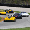 # 77 - SVRA, Road America, 2009 - Bill Morrison and Doug Rippie # 16, Brad Hoyt # 6, Dick Cantrud # 00 and Brian Morrison # 76