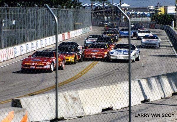 # 3 - SCCA Corvette Challenge, St Petersburg, 1989 - Bill Cooper leads