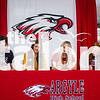Four Argyle athletes participate in signing day at Argyle High School on Feb. 6, 2020. (Alex Daggett | The Talon News)