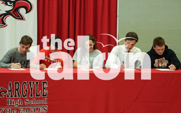 Student Athletes sign to colleges in the spring.Argyle High School on 3/10/12 in Argyle, Texas. (GiGi Robertson)