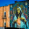 Ave Maria on the side of a building at 160 E 200 S, Salt Lake City, UT