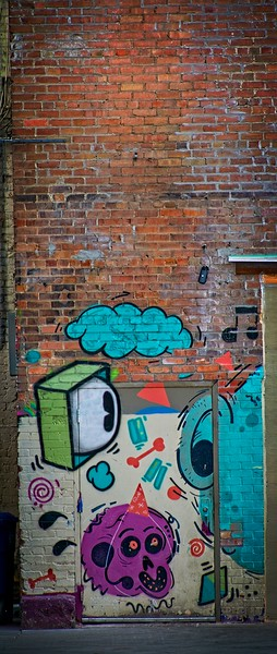 A wall in downtown Salt Lake City, Utah