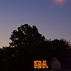 Moon, lamp and sign in Shawnee, Kansas