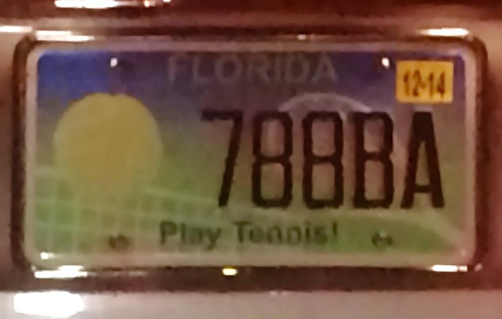 Play Tennis License Plate