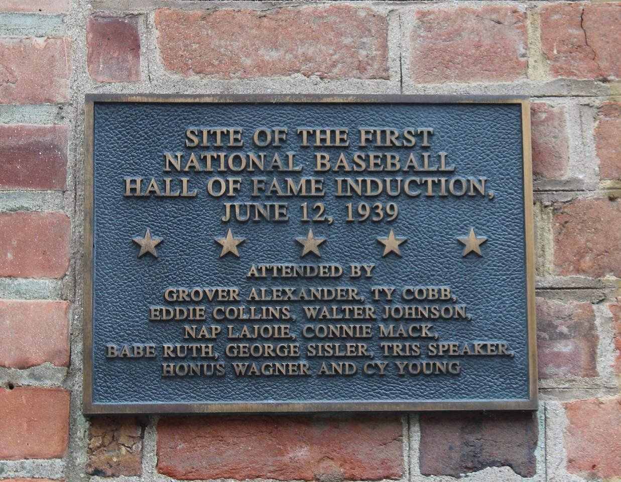 Baseball Hall of Fame Plaque