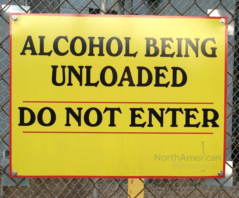 Alcohol Unloading Area
