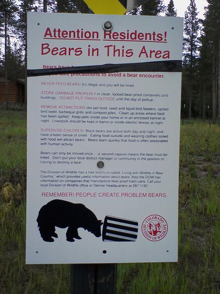 Bear Advisory