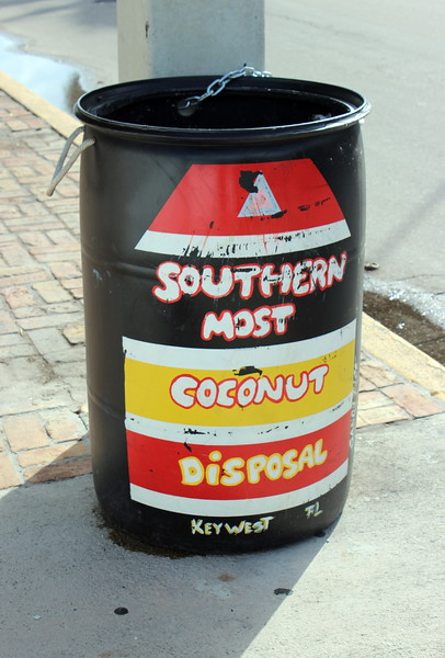 Southern Most Coconut Disposal Can