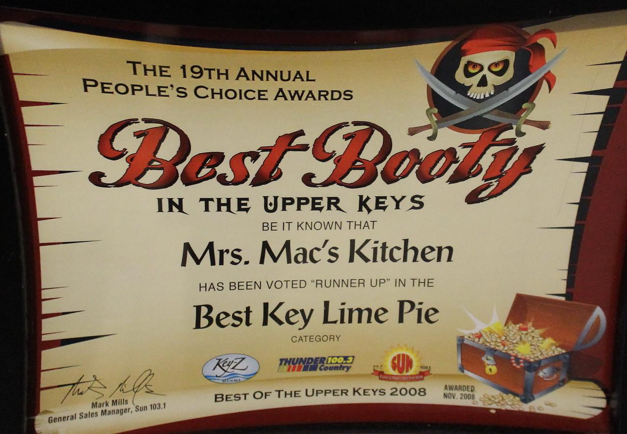 Best Key Lime Pie Award