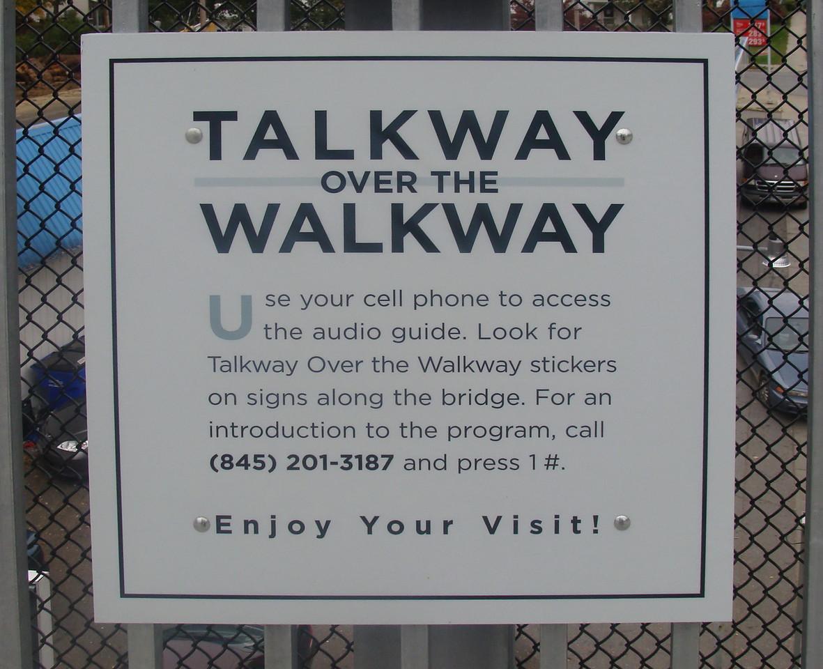 Talkway over the Walkway