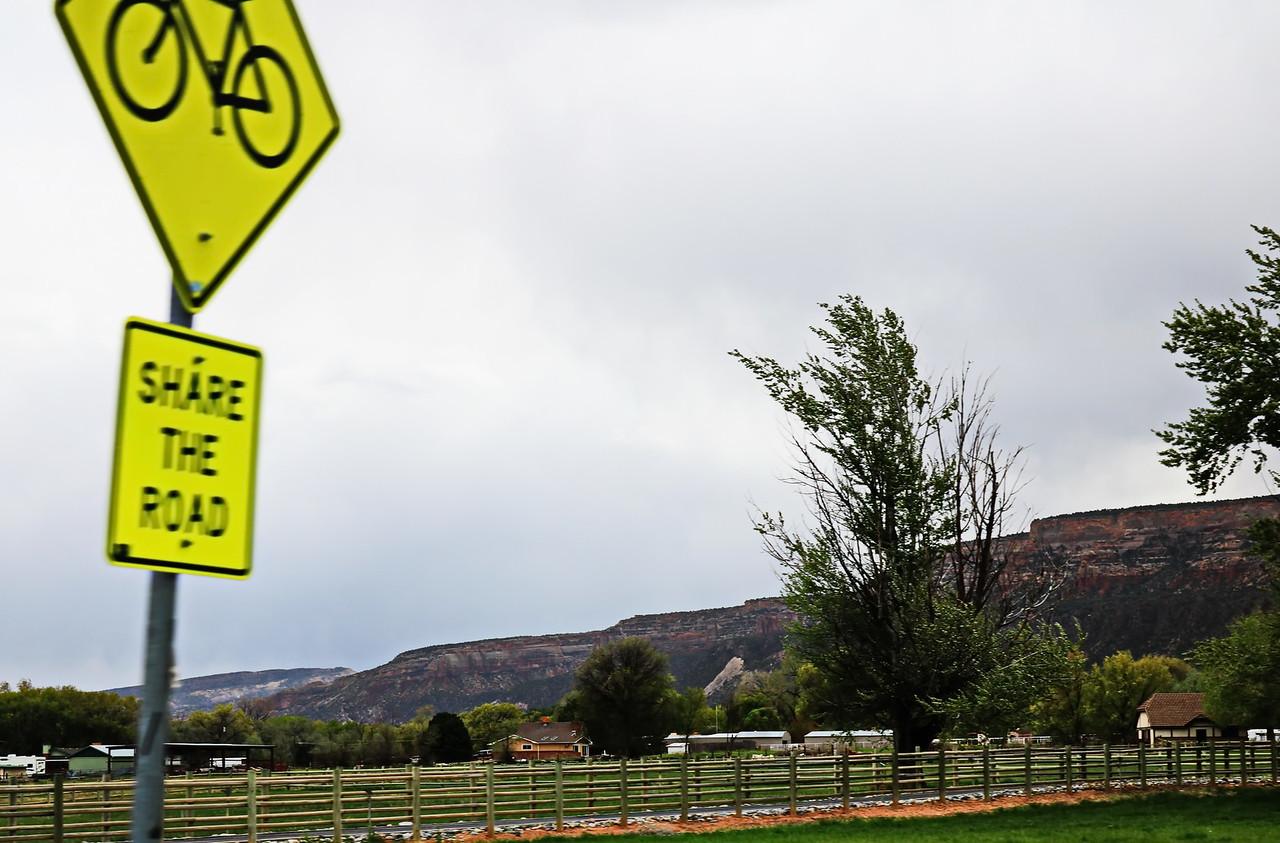 Bicycle Road Sharing Sign