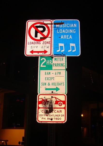 Musician Loading Zone