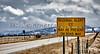 Highway Road Ice Alert Sign Mountain Storm