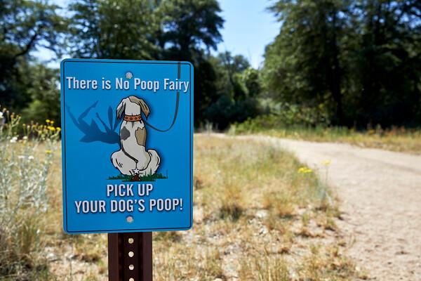 Dog Poop sign at Trailhead