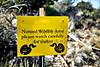 Wildlife Warning Sign