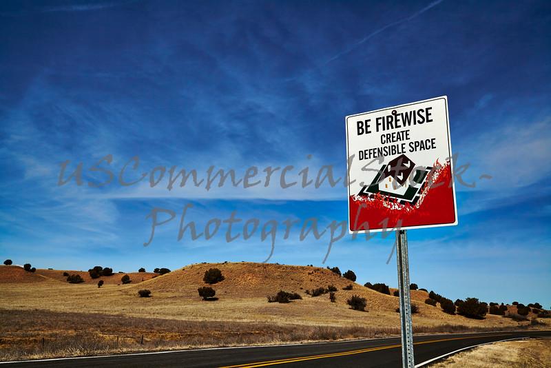 Be Firewise roadsign