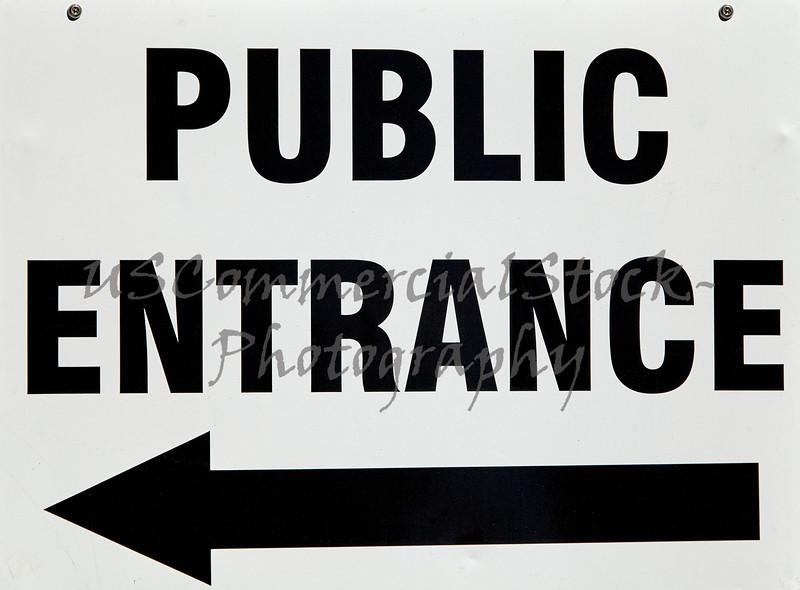 public entrance direction sign signage