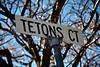 Tetons Ct. Street Sign