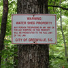 Greenville Water Shed Sign