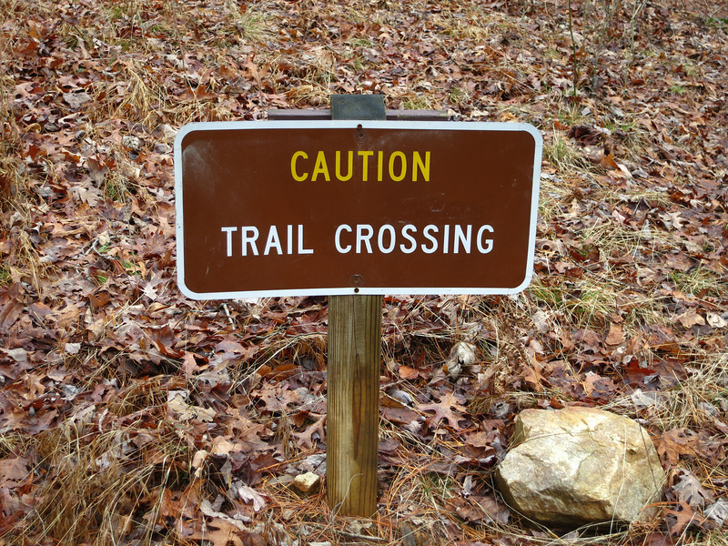 Trails have the right of way!