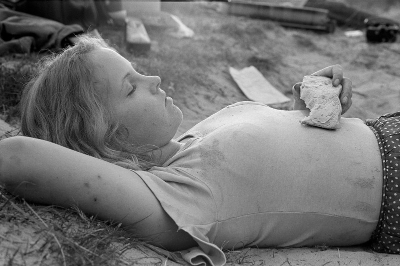 Sleeping Girl, Studland Beach (1974)