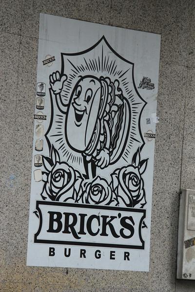 Bricks Burger Sign, Macau