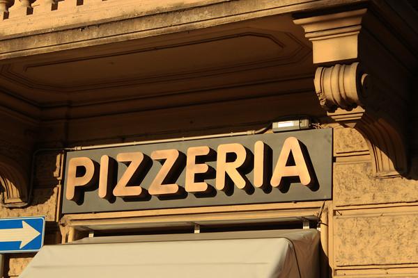 Italy, Verona, Pizzeria Sign