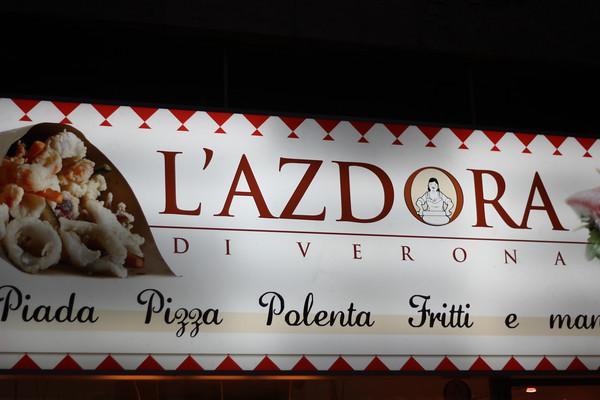 Italy, Verona, Restaurant Neon Sign