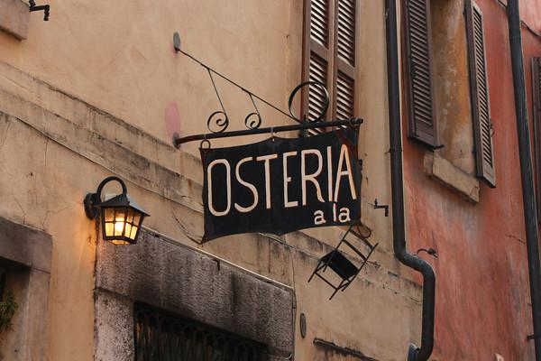 Osteria (Bar) Sign