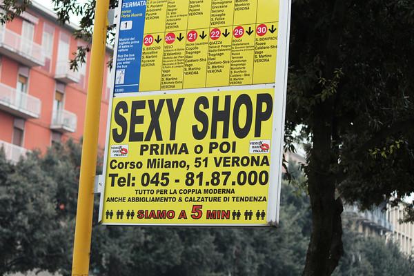 Italy, Verona, Sex Shop Poster