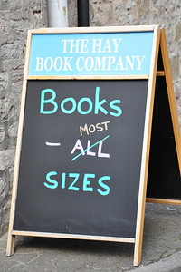 Does the size of a book matter? - Hay-on-Wye, Wales