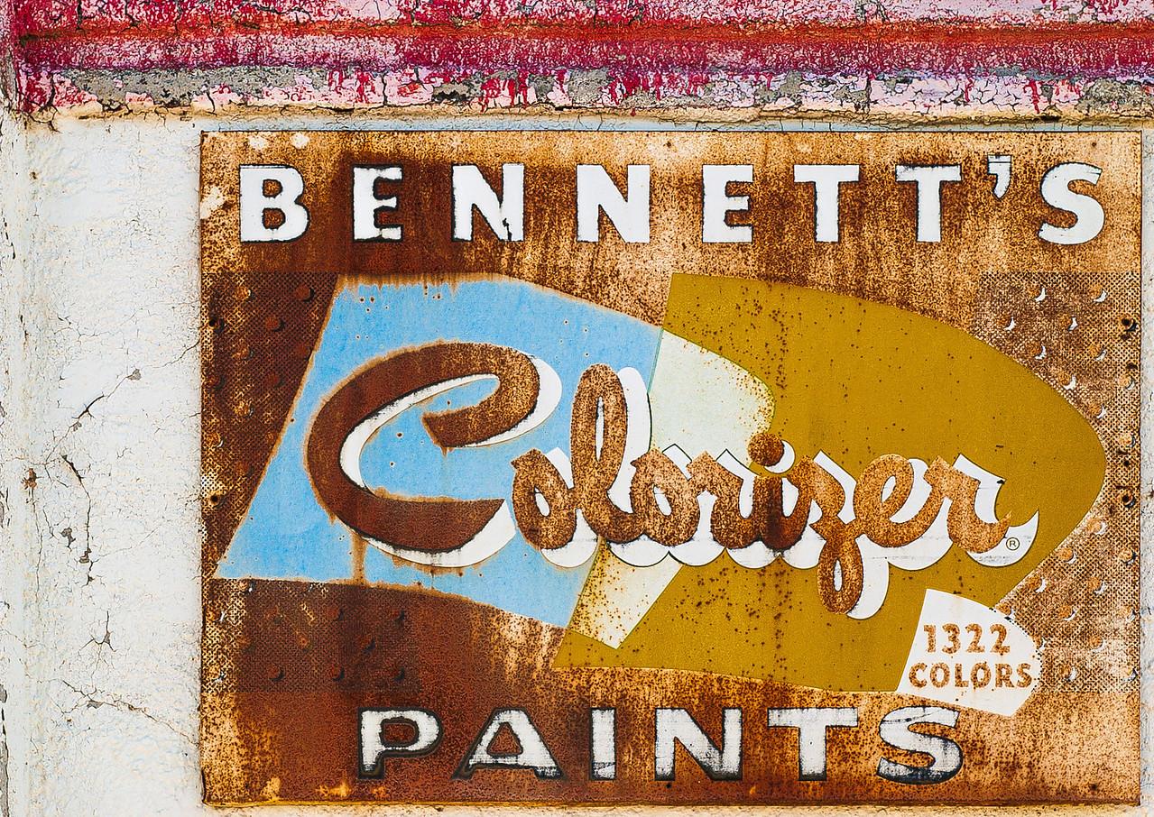 Bennett's Colorizer Paints, Panguitch, Utah, 2000