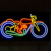 neon motorcycle