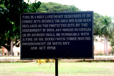 Church grounds in Goa
