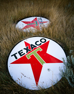 Texaco signs, Babb, Montana, 1996