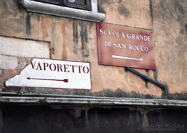 Vaporetto Sign