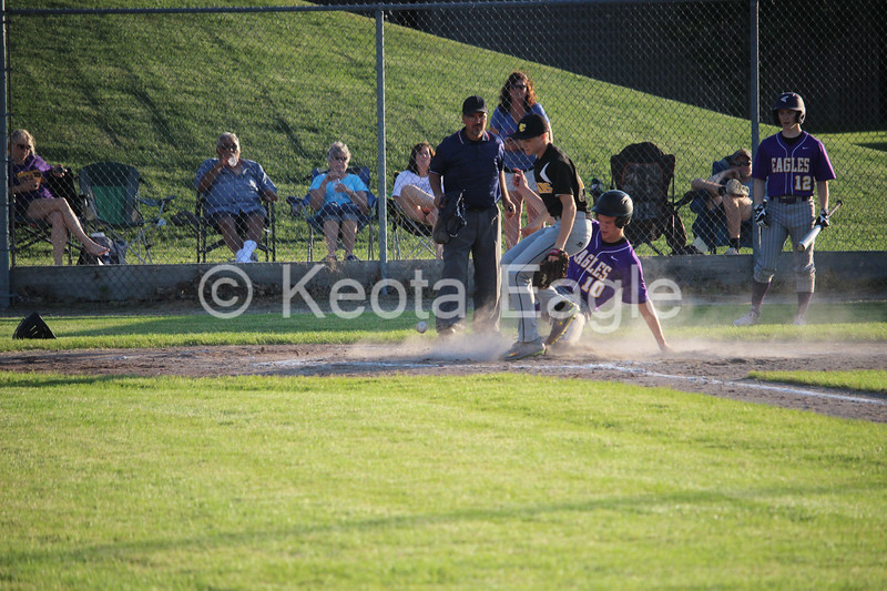 Brady Duwa did a little bit of everything in helping Keota defeat Tri-County on May 30. He drove in three runs on two hits, both triples, and scored three times, including getting to home on a passed ball and successfully evading a tag at the plate. Keota won 13-3 after five innings of play.