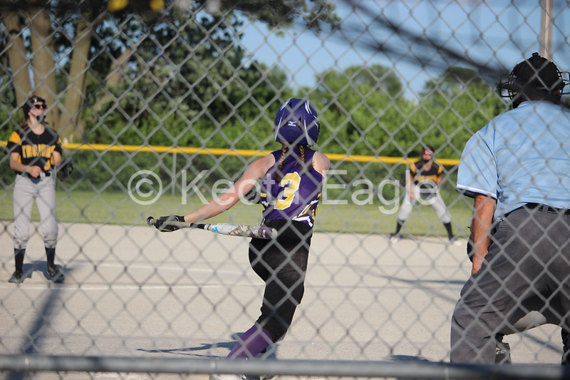 Jaime Schulte recorded three hits for the Lady Eagles when they hosted the Lady Trojans on May 30. She had one double, which brought in two runners and also got on base once via walk. Her effort wasn't quite enough as Tri-County got the 14-7 win in the end.