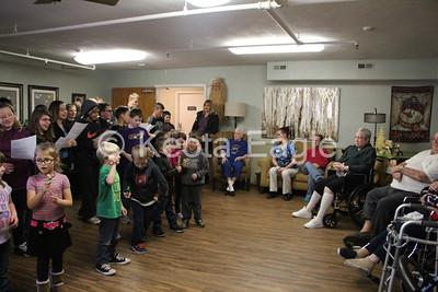 Kindergarten and Sixth Grade buddies visit Keota Health Center