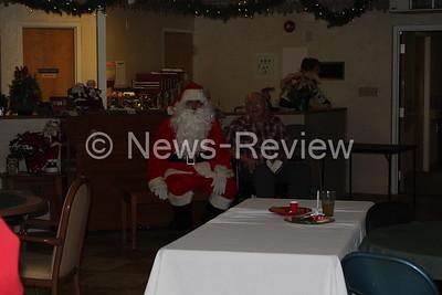 Santa visits Manor House
