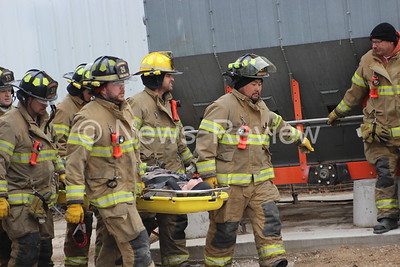 Sigourney and Keota Fire Depts Grain Bin Rescue Training 3/12/17