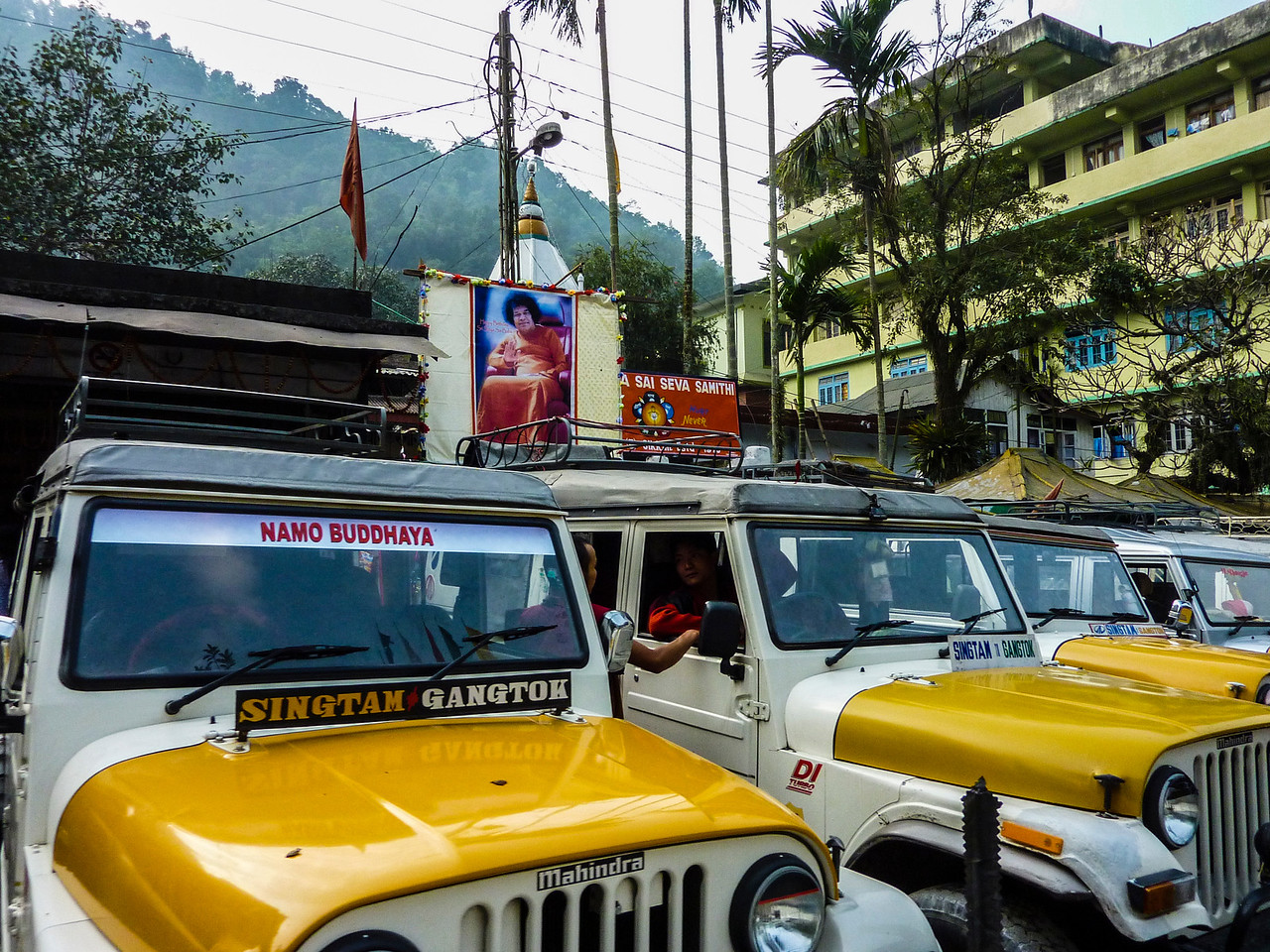 Driving from Gangtok to Pelling, Sikkim, India