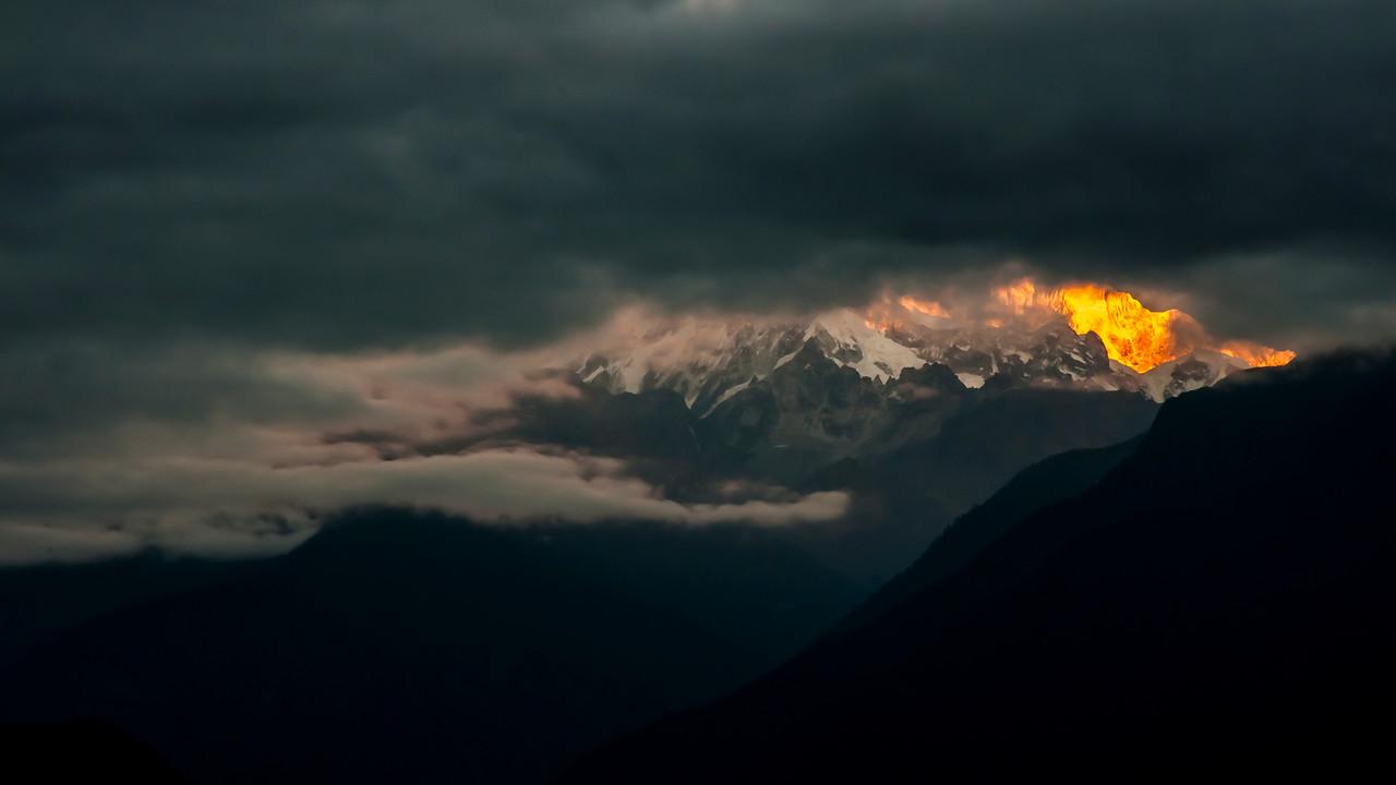 Himalayas at Mt. Pandim, Pelling, Sikkim, India