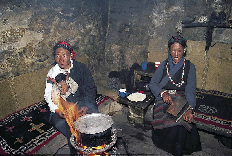 A  herders family in their Muguthang home