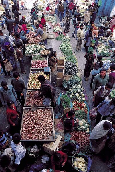 Lal Market, Gangtok winter 1986