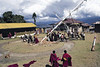 A new prayer flag is erected at Pemayangtse monastery on Lhosar