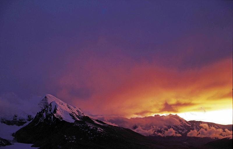 Sunset from Dorji La - North Sikkim Plateau at around 18,644 feet