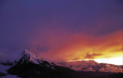 Sunset from Dorji La - North Sikkim Plateau at around 18,644 feet