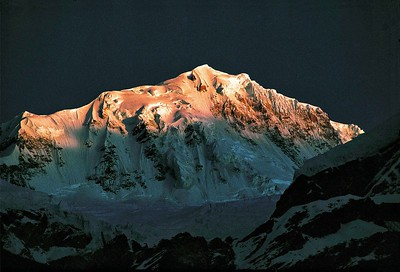 Kabru at dawn from Chauringkhang (West Sikkim)